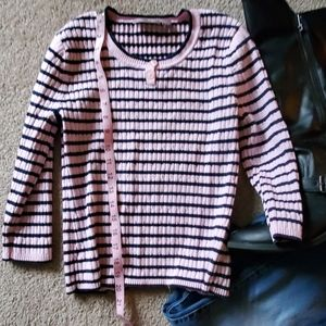 Sweater,  pink/ navy